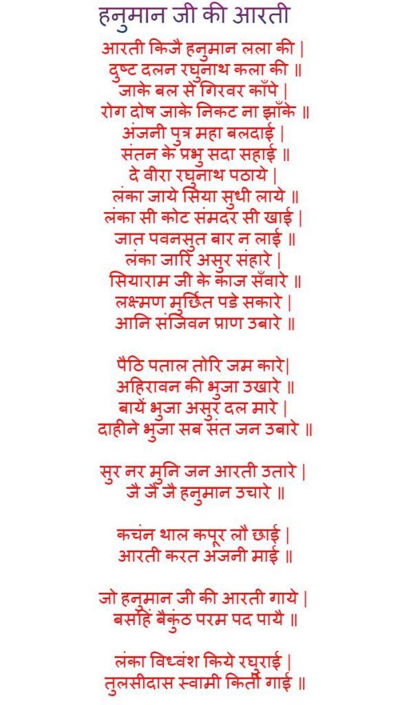 Hanuman Ji Ki Aarti Image
